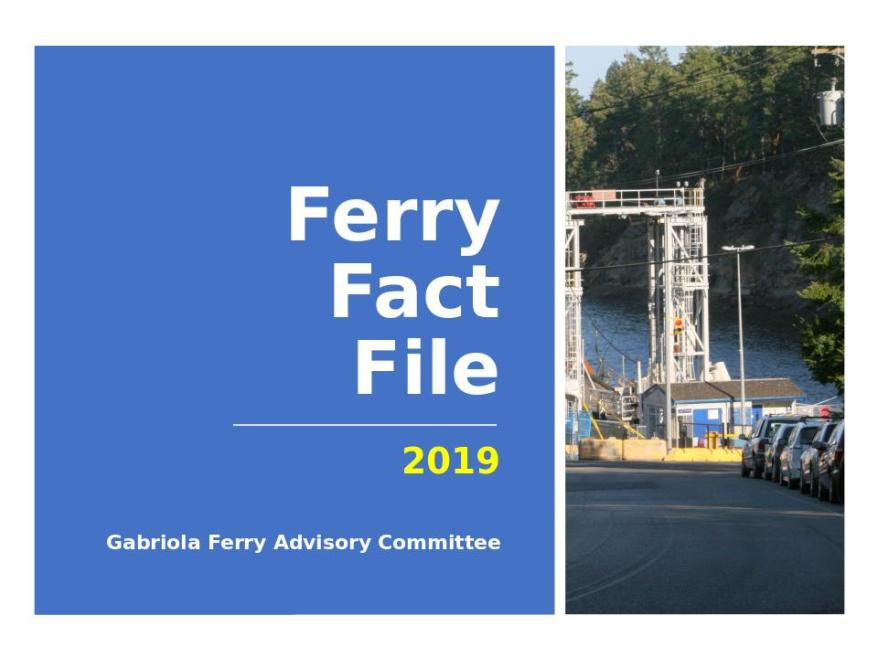 Ferry Fact File Oct 2018